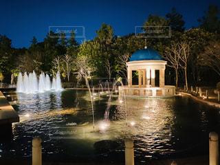 夜の噴水の写真・画像素材[2888543]