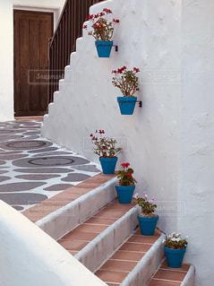 地中海の白い壁の写真・画像素材[2507740]