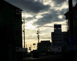 日が沈む前の一瞬の写真・画像素材[2646220]