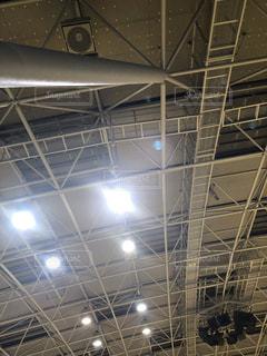 体育館の天井の写真・画像素材[2743445]
