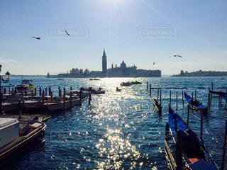 ベネチアの港の写真・画像素材[2588747]