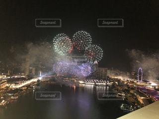 シンガポールF1での花火🎆の写真・画像素材[2491992]