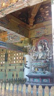 寺院の像の写真・画像素材[2495076]