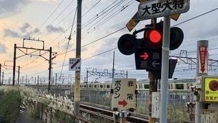 東海道線 踏み切りの写真・画像素材[2675048]