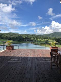 沖縄のゴルフ場テラスの写真・画像素材[2562499]