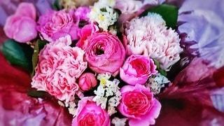 大好きなピンク系の花束の写真・画像素材[2711089]