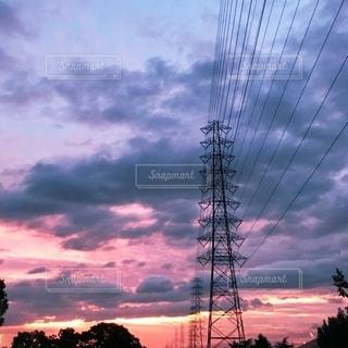 台風前の夕暮れの写真・画像素材[2578683]