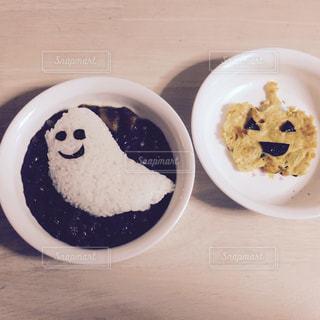 ハロウィン用の簡単離乳食ご飯の写真・画像素材[2507197]
