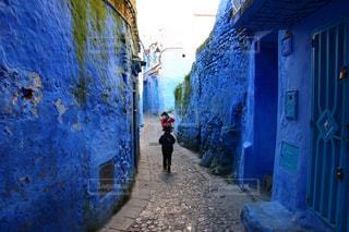 青の街 シャウエンの写真・画像素材[2970734]