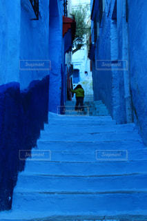 青の街 シャウエンの写真・画像素材[2970727]