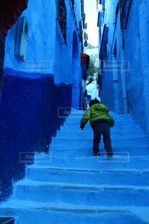 青の街 シャウエンの写真・画像素材[2970724]