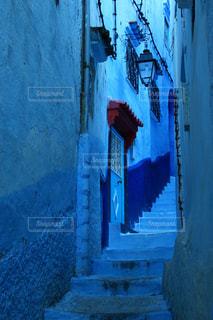 青の街 シャウエンの写真・画像素材[2970726]