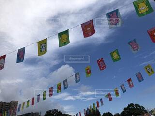 運動会の国旗の写真・画像素材[3686571]