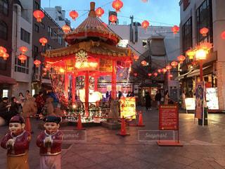 南京町ライトアップの写真・画像素材[2514814]