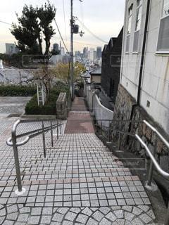 石畳みの階段の写真・画像素材[2514815]