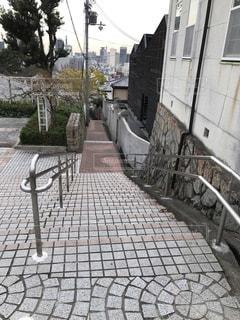 石畳みの階段の写真・画像素材[2514818]