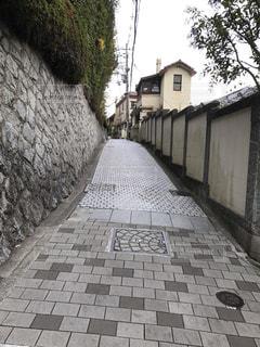 石畳みの坂道の写真・画像素材[2514961]