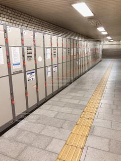 駅のコインロッカーの写真・画像素材[2618759]