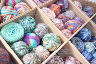 毛糸棚の写真・画像素材[2657902]