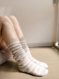モコモコ靴下の写真・画像素材[2677336]