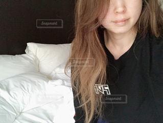寝起きの写真・画像素材[2849881]