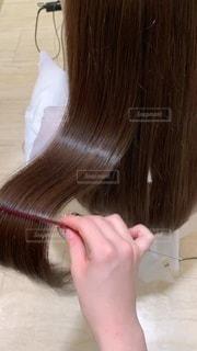 髪 つやつや サラサラの写真・画像素材[3465954]
