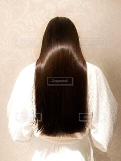 つやのある 髪の毛の写真・画像素材[4748278]