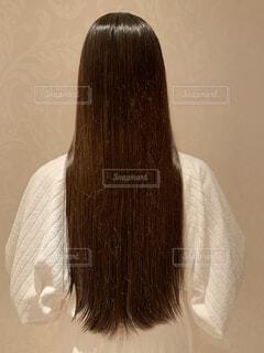 痛んだ髪の毛 トリートメント前の写真・画像素材[4748289]