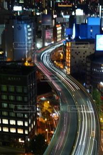 夜景 道路の写真・画像素材[4769460]