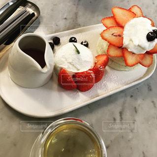 食べ物の皿のクローズアップの写真・画像素材[2543335]