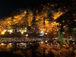 香嵐渓のライトアップの写真・画像素材[2735300]