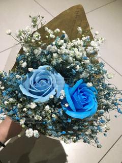 青色の花束の写真・画像素材[3083558]