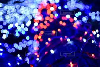 冬に煌めくネオンの写真・画像素材[2552208]