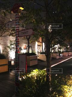 市街地の柱の標識の写真・画像素材[2527530]