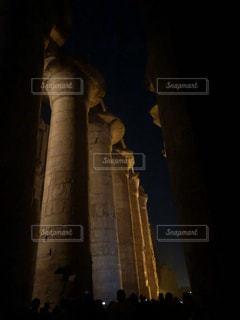 カルナック神殿ライトアップの写真・画像素材[2652546]