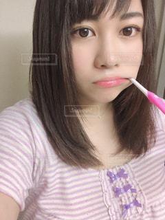 歯を磨く女性のの写真・画像素材[2543442]