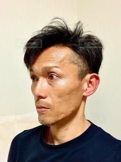 男の横顔の写真・画像素材[3108051]