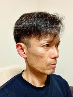 男の横顔の写真・画像素材[3108049]