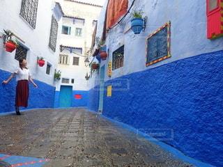 青い町の写真・画像素材[2643474]