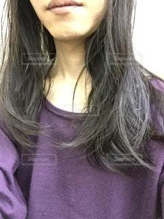 長髪男子の写真・画像素材[97883]