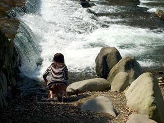 川沿いの写真・画像素材[114658]