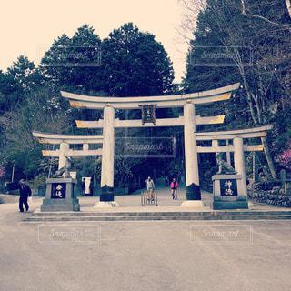 三峰神社の三ツ鳥居の写真・画像素材[1374786]