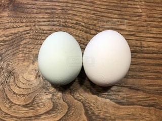 近くに卵のアップの写真・画像素材[1239795]