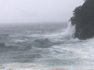 台風19号の波、伊豆城ヶ崎海岸の写真・画像素材[2586026]