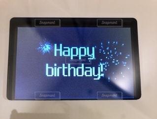 誕生日に体重計に乗ったら…。の写真・画像素材[3515012]