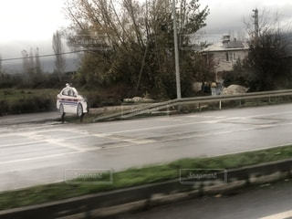 トルコ のパトカーのハリボテの写真・画像素材[2599223]