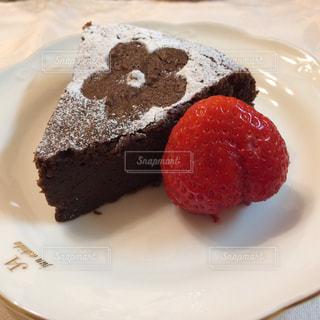 バレンタインのチョコブラウニーの写真・画像素材[2595370]