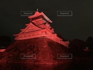 真っ赤な小倉城の写真・画像素材[2664982]