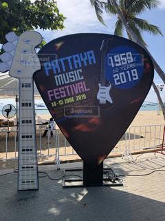 タイ パタヤビーチ 2019 ミュージックフェスティバル看板の写真・画像素材[2533298]