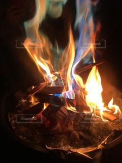 七色の炎の写真・画像素材[2606276]